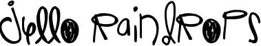 Jello Raindrops Font