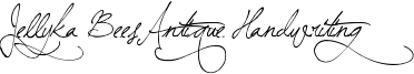 Jellyka BeesAntique Handwriting Font