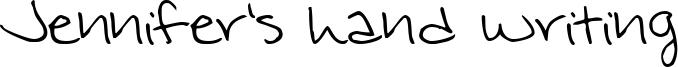 Jennifer's hand writing Font