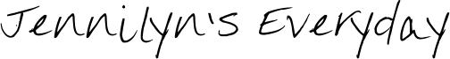 Jennilyn's Everyday Font
