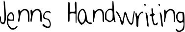 Jenns Handwriting Font