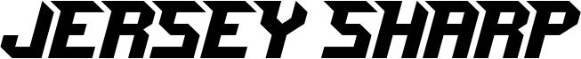 Jersey Sharp Font