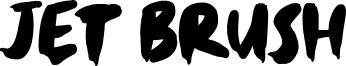 Jet Brush Font