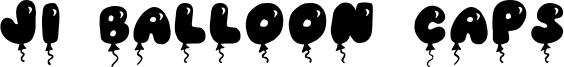 JI Balloon Caps Font