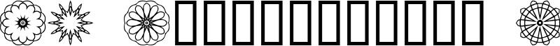JI Kaleidoscope Bats Font