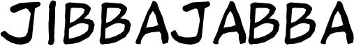Jibbajabba Font