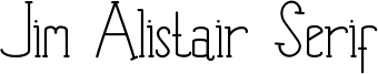 Jim Alistair Serif Font
