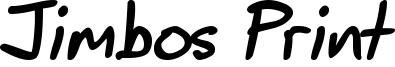 Jimbos Print Font