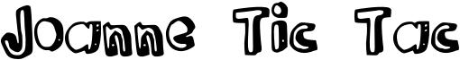 Joanne Tic Tac Font