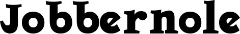 Jobbernole Font