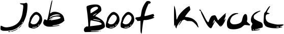 Job Boof Kwast Font