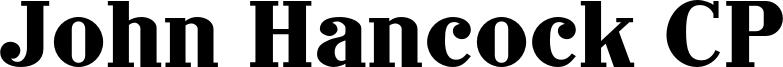 John Hancock CP Font
