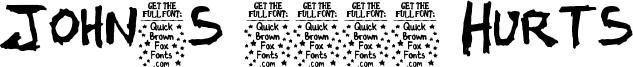 John's 1000 Hurts Font