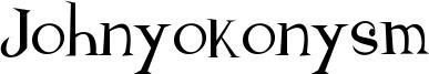 Johnyokonysm Font