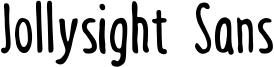 Jollysight Sans Font