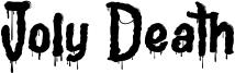 Joly Death Font