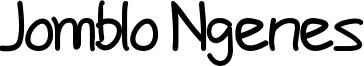 Jomblo Ngenes Font