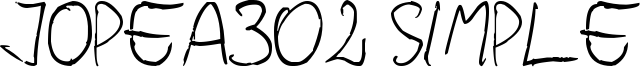 Jopea302 Simple Font