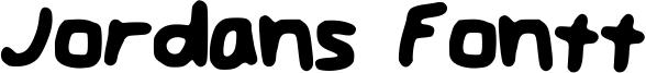 Jordans Fontt Font