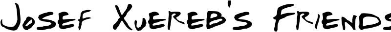 Josef Xuereb s Friends - Bold Italic.ttf