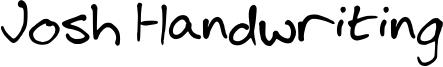 Josh Handwriting Font