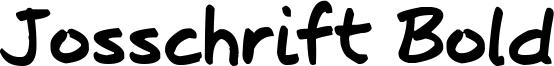 Josschrift Bold Font