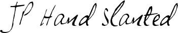JP Hand Slanted Font