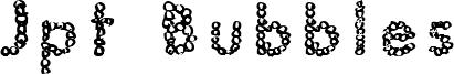 Jpt Bubbles Font