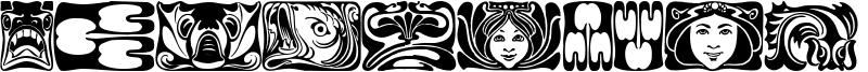 Jugendstil Ornamente Font