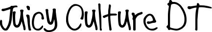 Juicy Culture DT Font