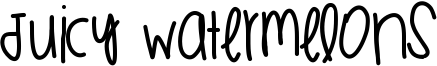 Juicy Watermelons Font