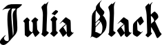 Julia Black Font