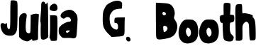 Julia G. Booth Font