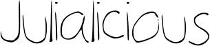 Julialicious Font