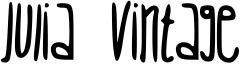 Julia Vintage Font