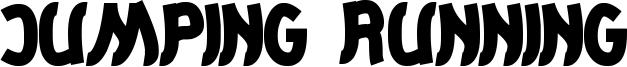 Jumping Running Font