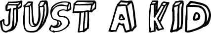 Just a kid Font