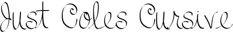 Just Coles Cursive Font