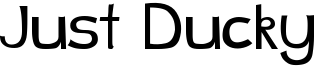 Just Ducky Font