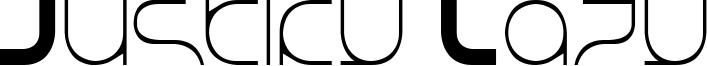 Justify Lazy Font