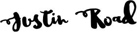 Justin Road Font