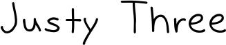 Justy Three Font