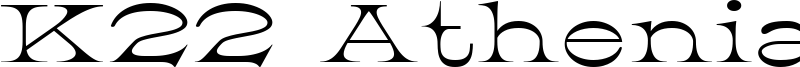 K22 Athenian Wide Font