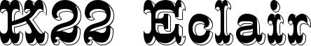 K22 Eclair Font