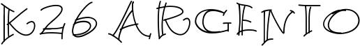 K26 Argento Font