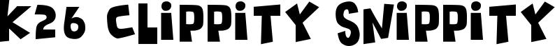 K26 Clippity Snippity Font