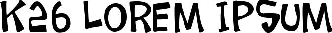 K26 Lorem Ipsum Font