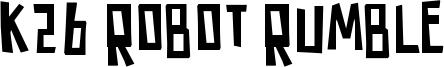 K26 Robot Rumble Font