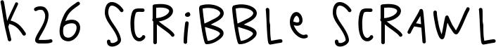 K26 Scribble Scrawl Font