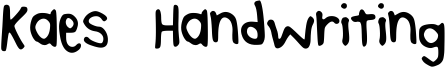 Kaes Handwriting Font